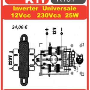 ELSE KIT RS304 Mini Inverter Univers. 12Vcc-220Vca Kit elettronico