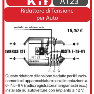 ELSE KIT RS104 Riduttore di Tensione per Auto Kit elettronico