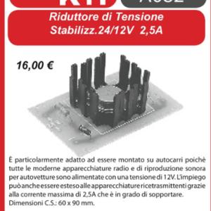 ELSE KIT RS11  Riduttore Tensione Stabilizzato 24/12V 2,5A Kit elettronico