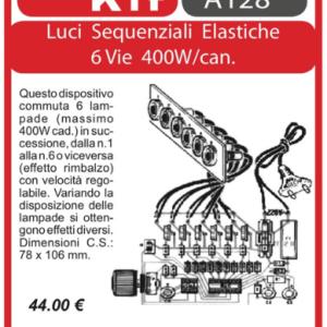 ELSE KIT RS114  Luci Sequenziali Elastiche 6 Vie 400W/canale Kit elettronico
