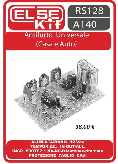 ELSE KIT RS128  Antifurto Universale (Casa e Auto) Kit elettronico
