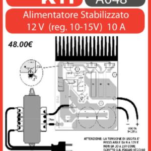 ELSE KIT RS131 Alimentatore Stabilizzato 12V (reg. 10-15V) 10A   Kit elettronico
