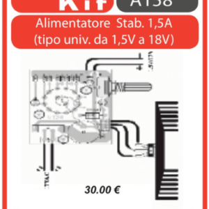 ELSE KIT RS150 Alimentatore Stabilizzato Universale 1A Kit elettronico