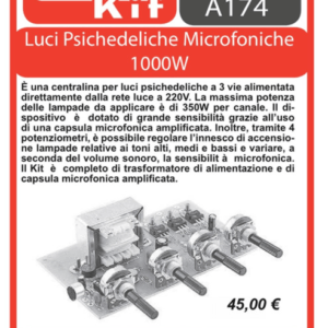 ELSE KIT RS172 LUCI PSICHEDELICHE MICROFONICHE 1000W KIT elettronico