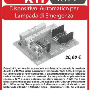 ELSE KIT RS177 Dispositivo Automatico per Lampada di Emergenza  Kit elettronico