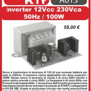 ELSE KIT RS204  Inverter 12Vcc – 220Vca 50Hz 100W Kit elettronico