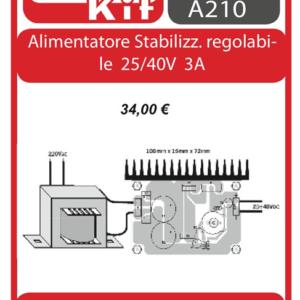 ELSE KIT RS215 Alimentatore Stabilizzato Regolabile 25-40V 3A Kit elettronico
