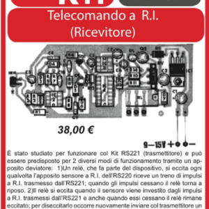 ELSE KIT RS220  Ricevitore per Telecomando a R.I. Kit elettronico