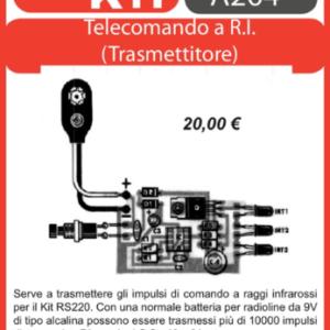ELSE KIT RS221 Trasmettitore per Telecomando a R.I. Kit elettronico