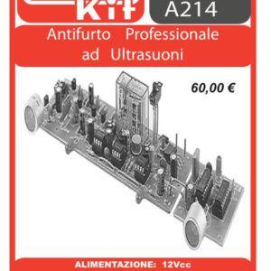ELSE KIT RS222 Antifurto Professionale ad Ultrasuoni Kit elettronico