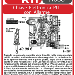 ELSE KIT RS232  Chiave Elettronica PLL con Allarme Kit elettronico