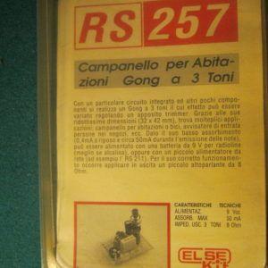 ELSE KIT RS257 Campanello per Abitazioni Gong a 3 Toni Kit elettronico