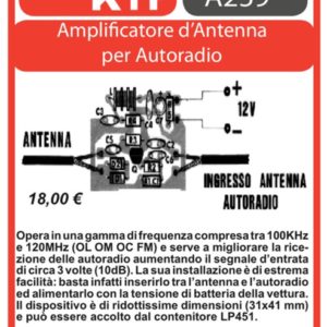 ELSE KIT RS281 Amplificatore d'antenna per Autoradio Kit elettronico