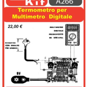 ELSE KIT RS291  Termometro per Multimetro Digitale Kit elettronico