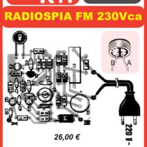 ELSE KIT RS307  Radio Spia FM 220Vca Kit elettronico