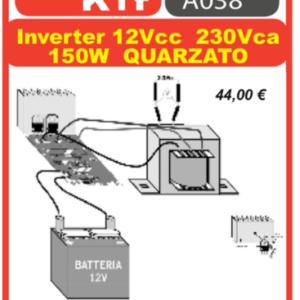 ELSE KIT RS308 Inverter 12Vcc 220Vca 150W Quarzato Kit elettronico