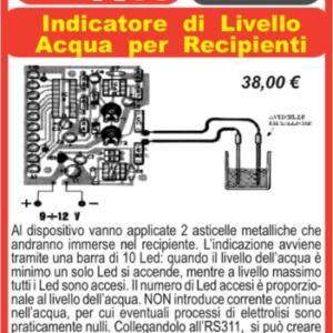 ELSE KIT RS310  Indicatore di Livello Acqua per Recipienti Kit elettronico