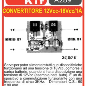 ELSE KIT RS326 Convertitore 12Vcc – 18Vcc