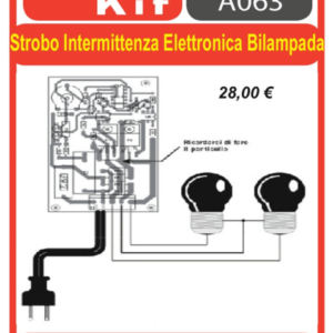 ELSE KIT RS333 Strobo Intermittenza Elettronica Bilampada Kit elettronico
