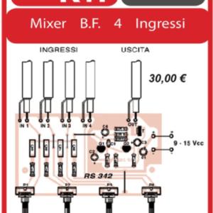 ELSE KIT RS342 Mixer B.F. 4 Ingressi Kit elettronico