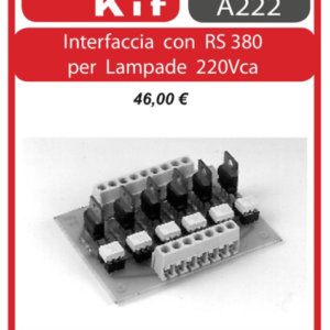 ELSE KIT RS382 Interfaccia con RS380 per Lampade 220Vca Kit elettronico