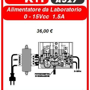 ELSE KIT RS385 Alimentatore da Laboratorio 0-15Vcc 1A KIT elettronico