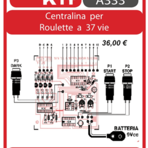 ELSE KIT RS392 Centralina per Roulette a 37 Vie Kit elettronico