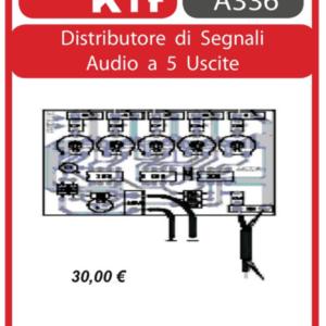 ELSE KIT RS397 Distributore di Segnali Audio a 5 Uscite KIT elettronico