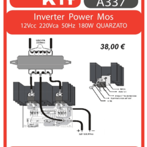 ELSE KIT RS399 Inverter Power Mos 12Vcc 220Vca 180W KIT elettronico