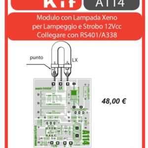 ELSE KIT RS400 Modulo con Lampada allo Xeno per lampeggio e Strobo  KIT elettronico