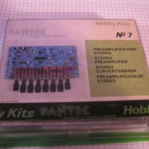 PANTEC 7 Preamplificatore Stereo KIT elettronico