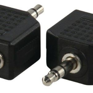 Adattatore 2 X Jack 3,5mm Mono-3,5mm Stereo