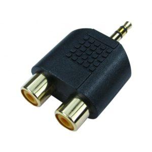 Adattatore 2 X RCA-Jack 3,5mm Stereo