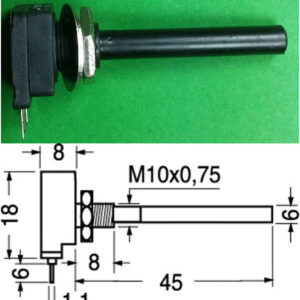 Potenziometro 100K Lineare 6mm