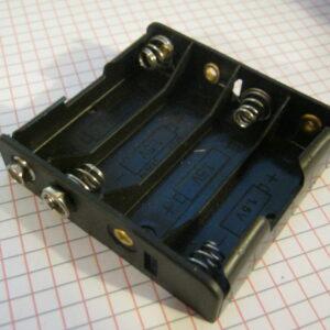 Portapile 4 Stilo AA Piatto con Clips