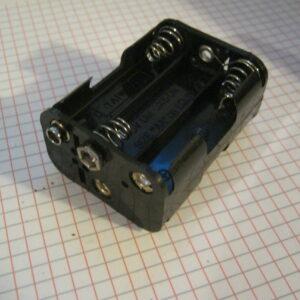 Portapile 6 Stilo AA con Clips