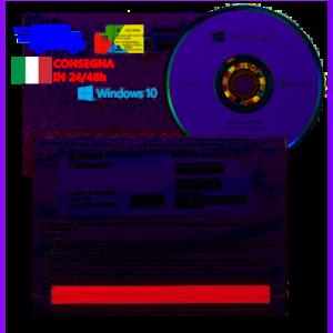Microsoft Windows 10 Pro Professional Retail 64 bit DVD Key Licenza COA sticker Multilingua