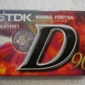 Audio Cassetta TDK D 90 IEC I/TYPE I  Normal Position 90 Minuti