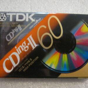 Audio Cassetta TDK CD ING-II 60 IEC II/TYPE II  HIGH Position CHROME 60 Minuti