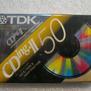 Audio Cassetta TDK CD ING-II 50 IEC II/TYPE II  HIGH Position CHROME 50 Minuti