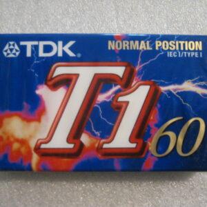 Audio Cassetta TDK T1 60 IEC I/TYPE I  Normal Position 60 Minuti