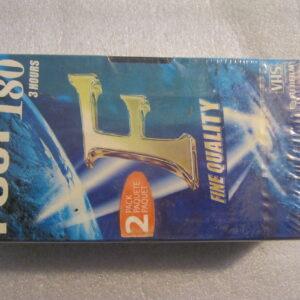 Video Cassetta VHS FUJI E-180  180 Minuti ( 2 Pezzi )