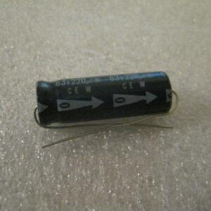 Condensatore Elettrolitico 220uF 63V Assiale