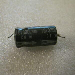 Condensatore Elettrolitico 330uF 16V Assiale
