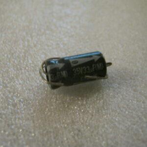 Condensatore Elettrolitico 33uF 35V Assiale