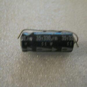 Condensatore Elettrolitico 330uF 35V Assiale