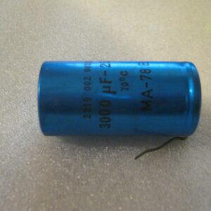Condensatore Elettrolitico 3000uF 25V Assiale