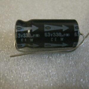 Condensatore Elettrolitico 330uF 63V Assiale
