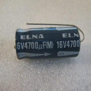 Condensatore Elettrolitico 4700uF 16V Assiale