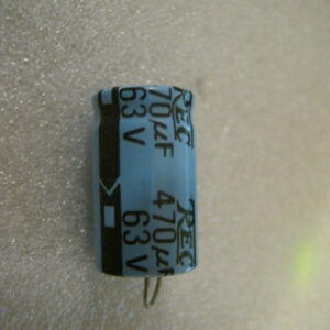 Condensatore Elettrolitico 470uF 63V Assiale